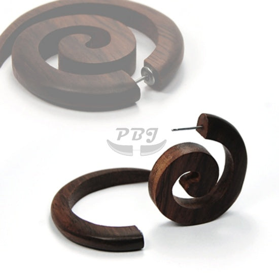 Square Sprial Fake Plug-Wood