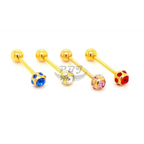 14G Multi Barbell-Gold Steel