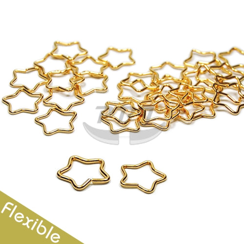18G Star Flexible Hoop-Gold Steel