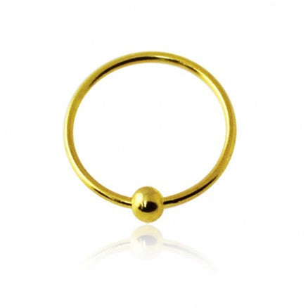 22G Ball Fixed Hoop Gold 20pcs/pack Price-925 Sterling Silver