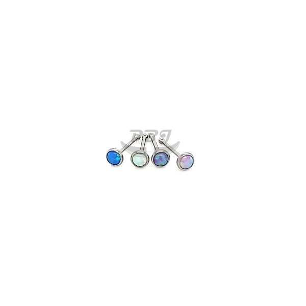 22G Opal Ball End 6pcs/pack Price- 316L S. Steel