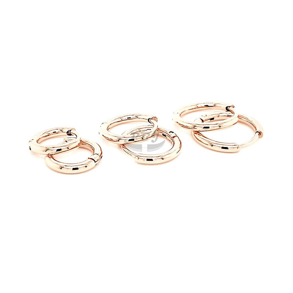 2.0mm Thin Round Hoop Earring - 316L S. Steel
