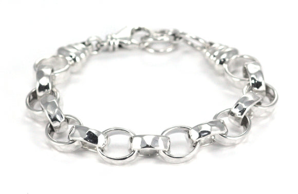 B049 DASA Hammered Chunky Link Bracelet