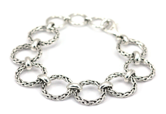 SURA Round Wheat Chain Station Bracelet B105