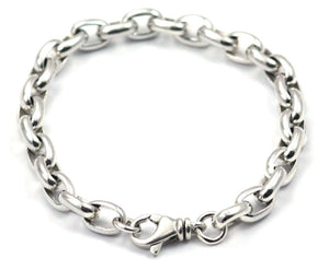 B206 SURA Sterling Silver Classic Oval Link Chain Bracelet
