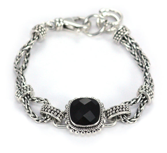 B215BOF PADMA Center Station Black Onyx Bracelet