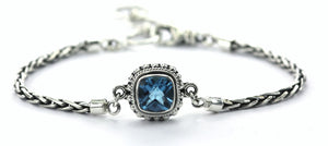 B216BT PADMA Center Station Swiss Blue Topaz Bracelet