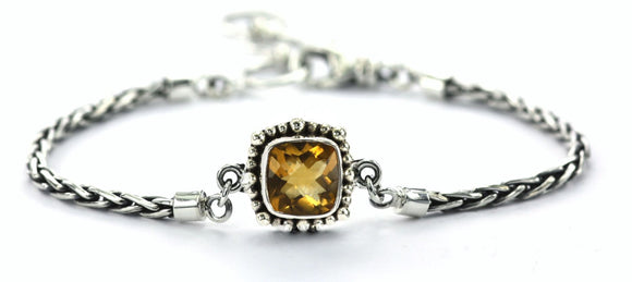 B216CT PADMA Center Station Citrine Bracelet