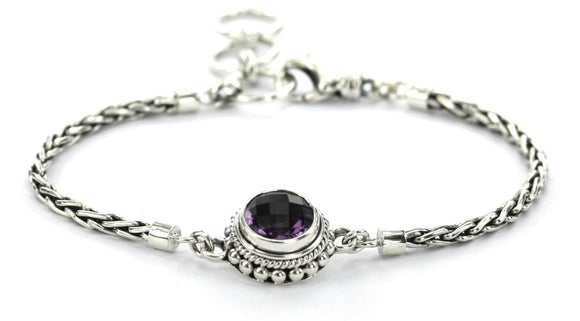 B217AM PADMA Center Station Amethyst Bracelet