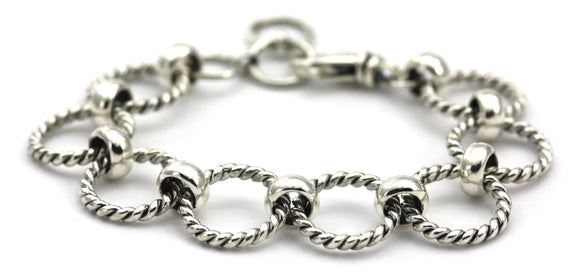 SURA Cable Twist Ring Link Bracelet B302