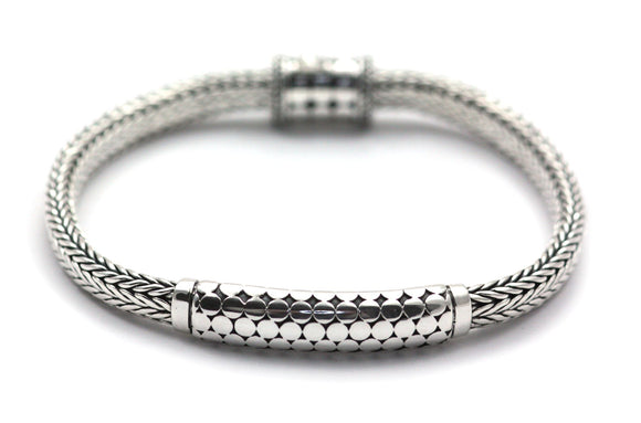 SOHO Center Station Chain Bracelet with Barrel Clasp 7.5