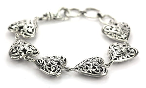 WEDA Filigree Heart Station Bracelet B792