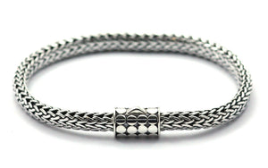 "SOHO Classic Bali Snake Chain With Barrel Clasp 7.5""  B846"