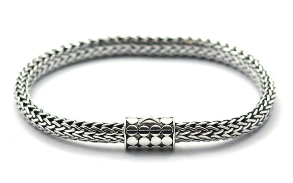 SOHO Classic Bali Snake Chain With Barrel Clasp 7.5