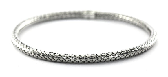 B913 ANYA Basket Weave Tubular Bangle Bracelet