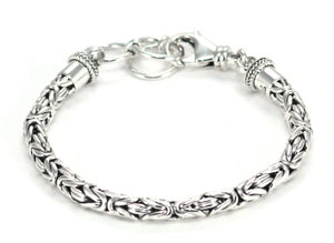 "BB5m7.5-8.5"" BOROBUDUR 5mm Adjustable Byzantine Chain Bracelet"