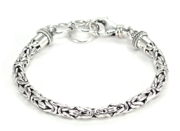 BOROBUDUR 5mm Adjustable Byzantine Chain Bracelet BB5m7.5-8.5