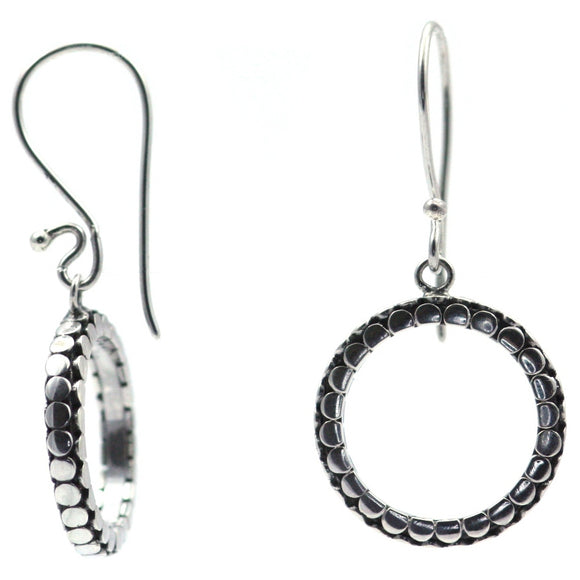 E515 SOHO Sterling Silver Circle Earrings