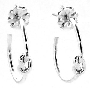 E707 KASI Lightweight Sterling Silver Knot Motif Post Earrings