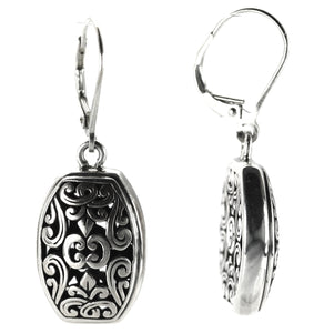 WEDA Filigree Earrings.  Bali .925 Sterling Silver.  E764