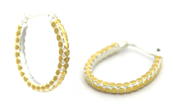 SOHO Horseshoe Earrings with 18k Gold Vermeil.  Bali .925 Sterling Silver.  E839G