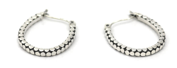 SOHO Horseshoe Earrings.  Bali .925 Sterling Silver.  E839