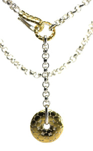 N041G LUNA .925 Sterling Silver and 18k Gold Vermeil Necklace