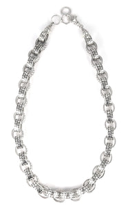 N055 KALA .925 Sterling Silver Chunky Link Necklace