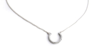 "N839 SOHO .925 Sterling Silver Horseshoe Necklace - 16-18""."