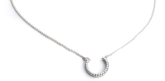 N839 SOHO .925 Sterling Silver Horseshoe Necklace - 16-18
