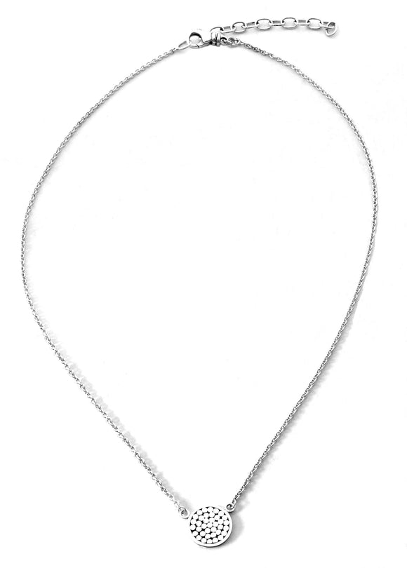 N840 KALA .925 Sterling Silver Single Station Necklace 16-18.