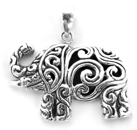 P780 Sterling Silver Elephant Pendant