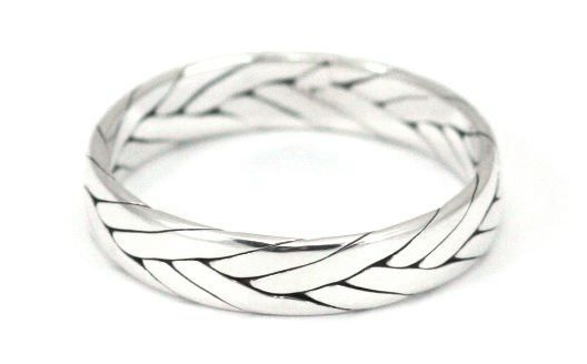 R020 ANYA .925 Sterling Silver Ring Handmade in Bali With Interwoven Sterling Strands