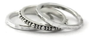 R060SET INDA .925 Sterling Silver Stack Ring Set