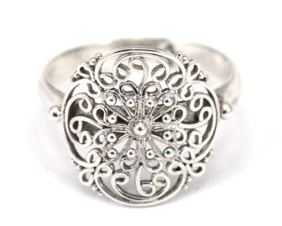 R677 FILI .925 Sterling Silver Ring With Hand Filigreed Design