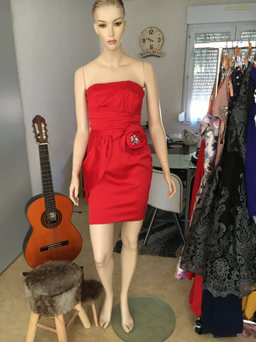 Robe bustier rouge 38