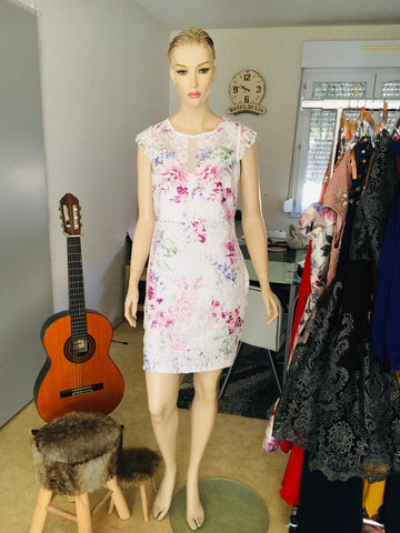 Robe droite floral 44