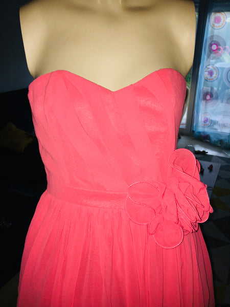 Robe bustier patineuse corail 38