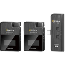 Load image into Gallery viewer, Comica BoomX-D 2.4G Digital 1-Trigger-2 Wireless Microphone Transmitter & Receiver System SLR Clip-on Microphone (UC2 = TX + TX + UC RX) - Vitopal