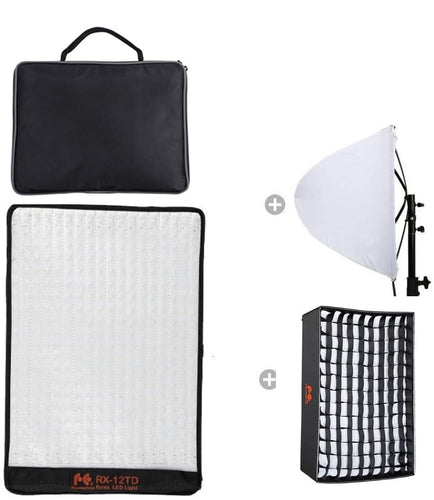Falcon Eyes  RX-12TD Kit Bi-Color Flexible LED Photo Light Softbox + RX-12SBHC Honeycomb Grid - Vitopal