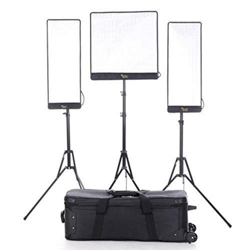 Linkstar RX-9TD,RX-11TD 3Kit Flexible Video Light with Honeycomb Grid Softbox and Stand