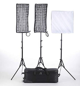 Linkstar RX-9TD,RX-11TD 3Kit Flexible Video Light with Honeycomb Grid Softbox and Stand - Vitopal