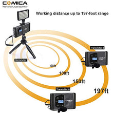 Load image into Gallery viewer, COMICA CVM-WS60 COMBO 1-Trigger-2 dual transmitter and one receiver Flexible Mini Wireless Microphone - Vitopal