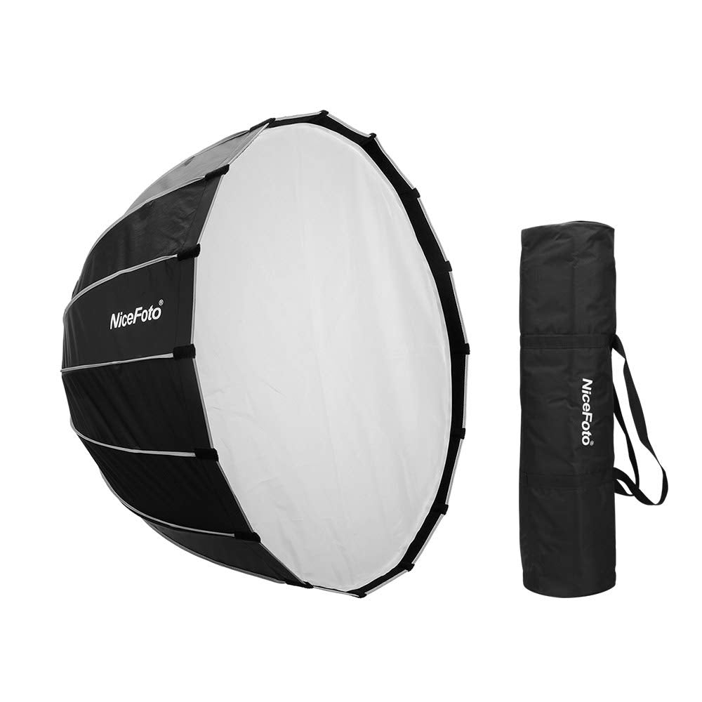 NiceFoto LED 120cm Quick Set-up Folding Deep Parabolic Umbrella Softbox Photography Studio SoftBox with Grid Carry Bag for Photo Studio Lighting Flash for Nicefoto,falconeyes - Vitopal