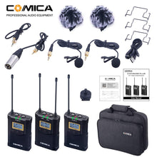 Load image into Gallery viewer, Comica CVM-WM100 Plus UHF 48-Channel Wireless Dual Lavalier Microphone System - Vitopal