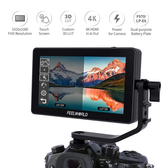 FEELWORLD F6 Plus 5.5' 1920x1080 4K 3D LUT Touch Screen DSLR Camera Field Monitor