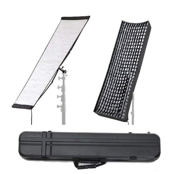 Falcon Eyes RX-36TDX 250W Flexible LED Video Light with Honeycomb Grid Softbox