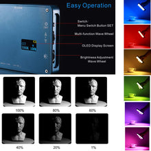 Load image into Gallery viewer, Falconeyes F7 RGB On Camera 2500K-9000K with Honeycomb Pocket Light - Vitopal