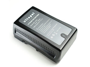 Vitopal V Mount Battery and Charger (160Wh Lithium-ion Rechargeable V Lock Battery with D-Tap) - Vitopal