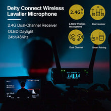 Load image into Gallery viewer, Deity Connect Wireless Lavalier Microphone 2.4G Dual-Channel Receiver & Two Transmitters - Vitopal